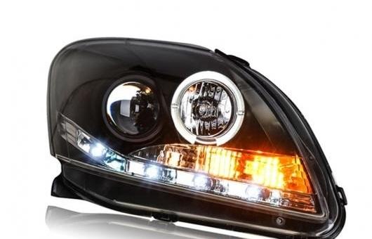 AL ヘッドライト 適用: トヨタ ヴィオス 2008-2013 LED ヘッドランプ デイタイムランニングライト DRL バイキセノン HID 4300K~8000K 35W・55W AL-HH-0156