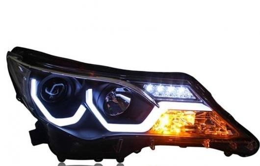 AL ヘッドライト 適用: トヨタ RAV4 LED 2013-2015 ヘッドランプ デイタイムランニングライト DRL バイキセノン HID 4300K~8000K 35W・55W AL-HH-0168