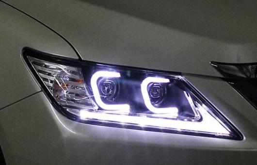 AL 適用: トヨタ カムリ 2012-2013 LED ヘッドライト ヘッドランプ デイタイムランニングライト DRL バイキセノン HID 4300K~8000K 35W・55W AL-HH-0171