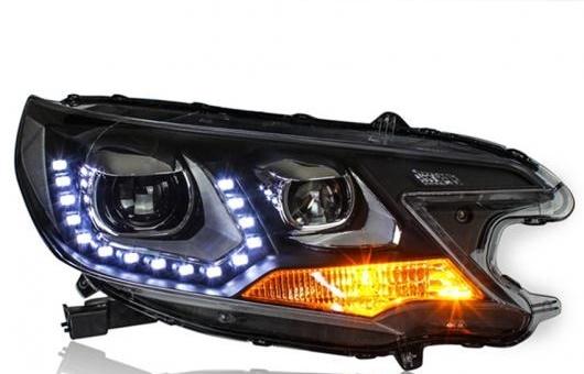 AL ヘッドライト 適用: ホンダ C-RV 2012-2013 LED CRV ヘッドランプ デイタイムランニングライト DRL バイキセノン HID 4300K~8000K 35W・55W AL-HH-0175