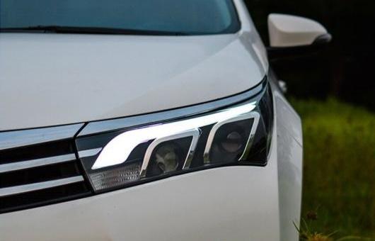 AL ヘッドライト 適用: トヨタ カローラ 2014-2015 LED ヘッドランプ デイタイムランニングライト DRL バイキセノン HID 4300K~8000K 35W・55W AL-HH-0177