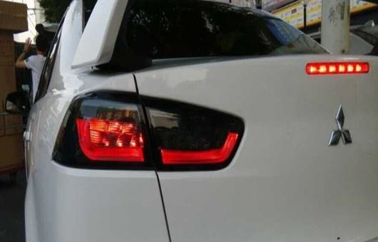 AL テールライト 適用: 三菱 ランサーEX LED 2019-2014 テール ランプ リア DRL + ブレーキ パーク シグナル レッド AL-HH-0190