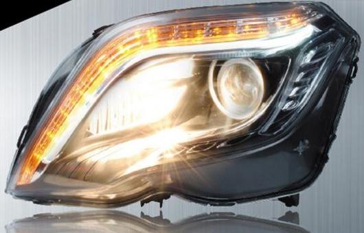 AL 適用: メルセデスベンツ/MERCEDES BENZ GLK ヘッドライト 2013-2015 LED ヘッドランプ DRL プロジェクター H7 HID バイキセノン レンズ 4300K~8000K 35W・55W AL-HH-0207