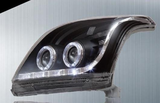 AL 適用: トヨタ プラド ヘッドライト 2004-2007 LED ヘッドランプ DRL プロジェクター H7 HID バイキセノン レンズ 4300K~8000K 35W・55W AL-HH-0209