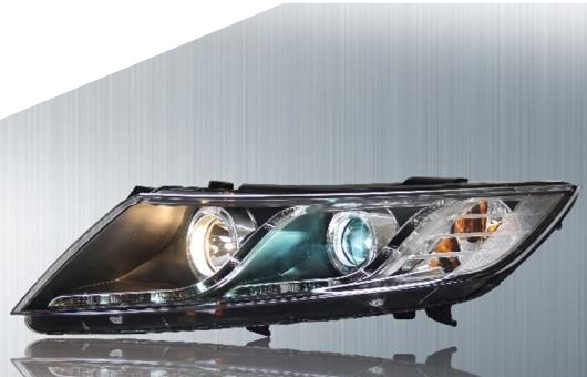 AL 適用: 起亜 K5 ヘッドライト 2011-2016 LED ヘッドランプ DRL プロジェクター H7 HID バイキセノン レンズ 4300K~8000K 7.5W・35W AL-HH-0211