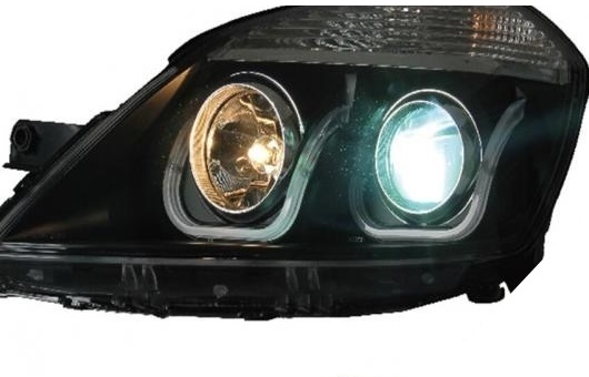 AL 適用: エクセル ヘッドライト 2008-2015 LED ヘッドランプ DRL プロジェクター H7 HID バイキセノン レンズ 4300K~8000K 35W・55W AL-HH-0234