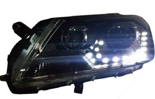 AL 適用: VW フォルクスワーゲン/VOLKSWAGEN パサート ヘッドライト 2012-2015 LED ヘッドランプ DRL プロジェクター H7 HID バイキセノン レンズ 4300K~8000K 35W・55W AL-HH-0247