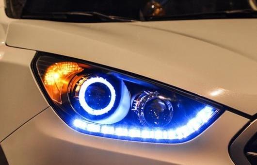 AL ヘッドライト 適用: ヒュンダイ/現代/HYUNDAI IX35 10-13 LED ヘッドランプ デイタイムランニングライト DRL バイキセノン HID 4300K~8000K 35W・55W AL-HH-0265