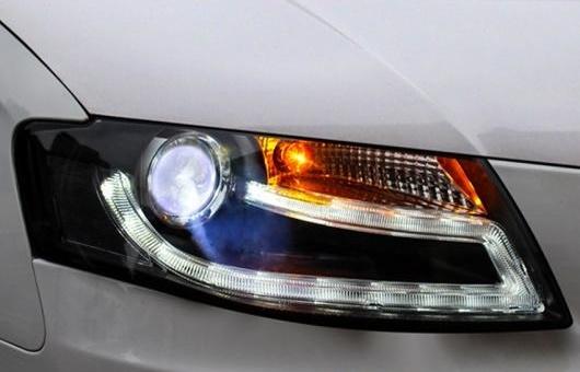 AL ヘッドライト 適用: アウディ/AUDI A4L 2008-2012 LED ヘッドランプ デイタイムランニングライト DRL バイキセノン HID 4300K~10000K 35W・55W AL-HH-0281