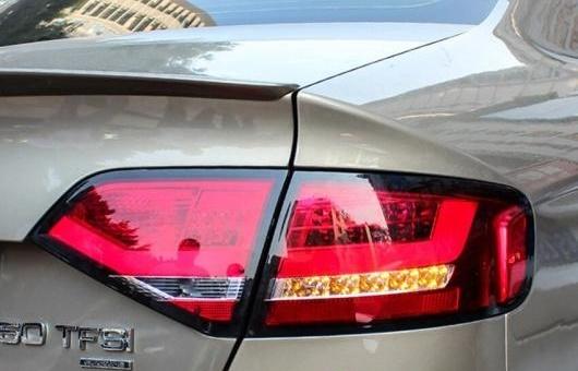 AL テール ランプ 適用: アウディ/AUDI A4 ライト 2009-2012 LED リア DRL + ブレーキ パーク シグナル ストップ レッド AL-HH-0284