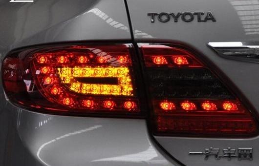 AL テール ライト 適用: トヨタ カローラ LED テールライト 11-13 ランプ リア DRL + ブレーキ パーク シグナル レッド AL-HH-0285