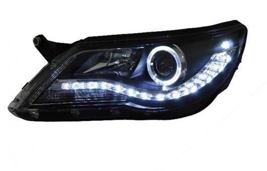 AL 適用: VW フォルクスワーゲン/VOLKSWAGEN ティグアン ヘッドライト 2010-2012 LED ヘッドランプ DRL プロジェクター H7 HID バイキセノン レンズ 4300K~8000K 35W・55W AL-HH-0311