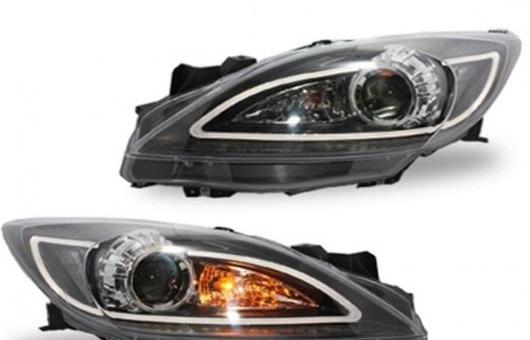 AL 適用: マツダ 3 ヘッドライト 2011-2013 LED DRL BI キセノン レンズ ハイ ロー ビーム パーキング HID フォグランプ 4300K~8000K 35W・55W AL-HH-0322