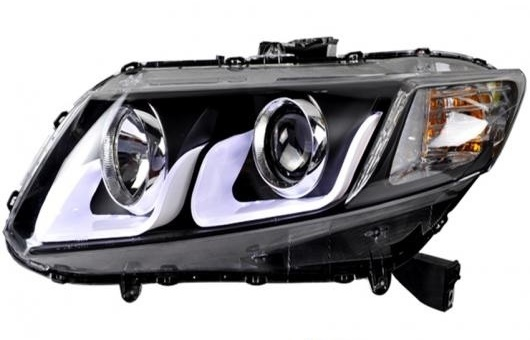 AL 適用: ホンダ シビック ヘッドライト 2012-2015 LED DRL レンズ ダブル ビーム H7 HID キセノン BI 4300K~8000K 35W・55W AL-HH-0326