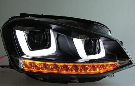 AL ヘッドランプ 適用: VW フォルクスワーゲン/VOLKSWAGEN ゴルフ7 ヘッドライト ゴルフ 7 MK7 2014-2016 LED DRL レンズ ダブル ビーム バイキセノン HID 4300K~8000K 35W・55W AL-HH-0353