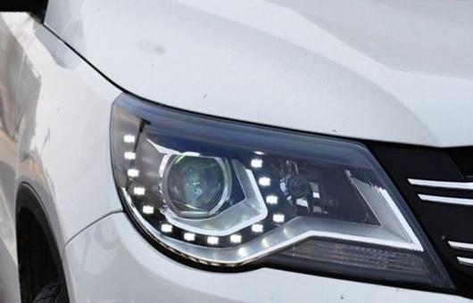 AL 適用: VW フォルクスワーゲン/VOLKSWAGEN ティグアン ヘッドライト 2013 LED DRL BI キセノン レンズ ハイ ロー ビーム パーキング 4300K~8000K 35W・55W AL-HH-0357