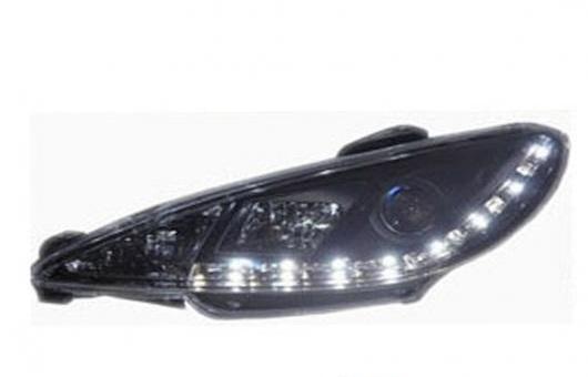 AL 適用: プジョー/PEUGEOT 206 ヘッドライト 2005-2008 LED DRL レンズ ダブル ビーム H7 HID キセノン BI 4300K~8000K 35W・55W AL-HH-0363