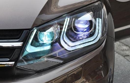 AL 適用: VW フォルクスワーゲン/VOLKSWAGEN トゥアレグ ヘッドライト 2011-2014 LED DRL レンズ ダブル ビーム H7 HID キセノン BI 4300K~8000K 35W・55W AL-HH-0368