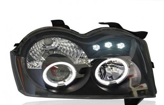 AL 適用: ジープ/JEEP グランドチェロキー ヘッドライト 2005-2008 LED DRL レンズ ダブル ビーム H7 HID キセノン BI 4300K~8000K 35W・55W AL-HH-0376