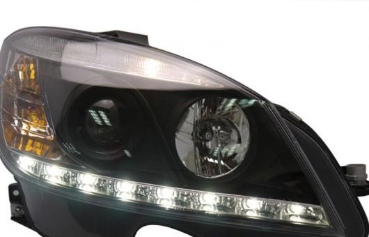 AL 適用: メルセデスベンツ/MERCEDES BENZ W204 C180 C200 C260 ヘッドライト 2007-2010 LED DRL レンズ ダブル ビーム H7 HID キセノン BI 4300K~8000K 35W・55W AL-HH-0378