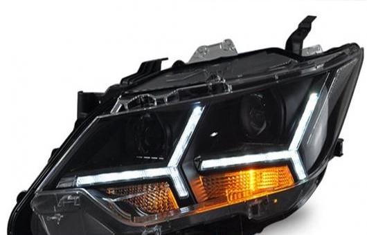 AL ヘッドランプ 適用: トヨタ カムリ V55 ヘッドライト 2015-2016 LED DRL H7 D2H HID オプション エンジェル アイ BI キセノン ビーム 4300K~8000K 35W・55W AL-HH-0388