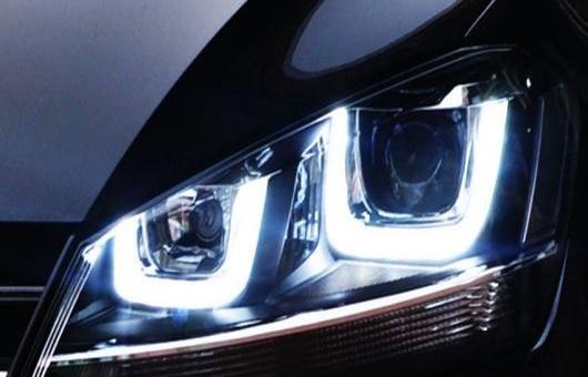 AL ヘッドライト 適用: VW フォルクスワーゲン/VOLKSWAGEN ゴルフ 7 ゴルフ7 GTI 2013-15 ダブル U LED バイキセノン HID 4300K~8000K 35W・55W AL-HH-0396