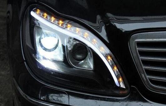 AL 適用: メルセデスベンツ/MERCEDES BENZ S280 S320 S500 S600 ヘッドライト 1998-2001 W220 LED DRL BI キセノン レンズ ハイ ロー ビーム パーキング HID 4300K~8000K 35W・55W AL-HH-0401