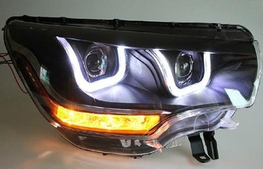 AL 適用: シトロエン/CITROEN C4L ヘッドライト 2013-2015 LED DRL BI キセノン レンズ ハイ ロー ビーム HID パーキング フォグランプ 4300K~8000K 35W・55W AL-HH-0403