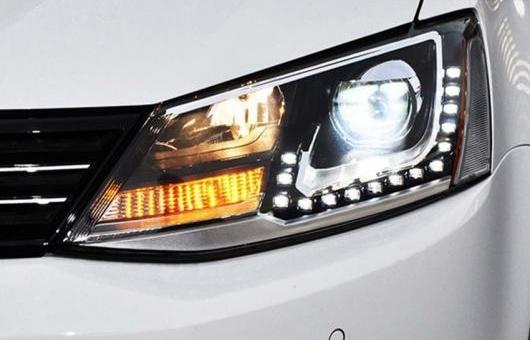 AL ヘッドライト アセンブリ 適用: VW フォルクスワーゲン/VOLKSWAGEN ジェッタ MK6 GLI 2012-2015 BI キセノン LED DRL HID フロント ランプ 4300K~8000K 35W・55W AL-HH-0407
