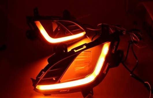 AL 適用: ヒュンダイ/現代/HYUNDAI アバンテ 2012-2013 高光度 ガイド LED DRL フォグ ランプ デイタイムランニングライト AL-HH-0420