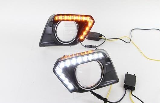 AL 適用: 日産 エクストレイル LED DRL 高光度 ガイド フォグ ランプ デイタイムランニングライト AL-HH-0500