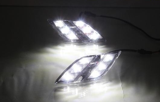 AL 適用: プジョー/PEUGEOT 301 2014-2016 LED DRL デイタイムランニングライト 高光度 ガイド AL-HH-0506