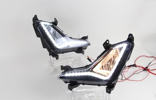 AL 適用: ヒュンダイ/現代/HYUNDAI エラントラ LED DRL 高光度 ガイド フォグ ランプ デイタイムランニングライト AL-HH-0525