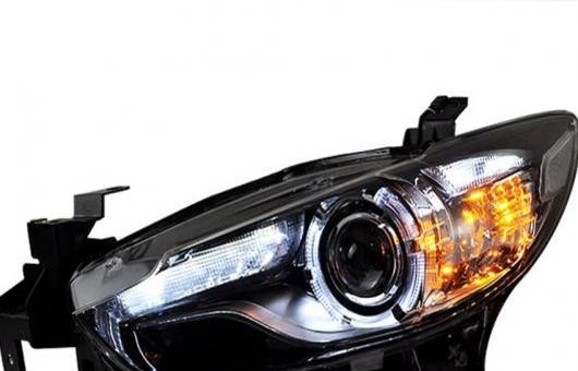 AL 適用: マツダ MAZDA6 アテンザ ヘッドライト 2014 LED DRL レンズ ダブル ビーム H7 HID キセノン BI 4300K~8000K 35W・55W AL-HH-0546
