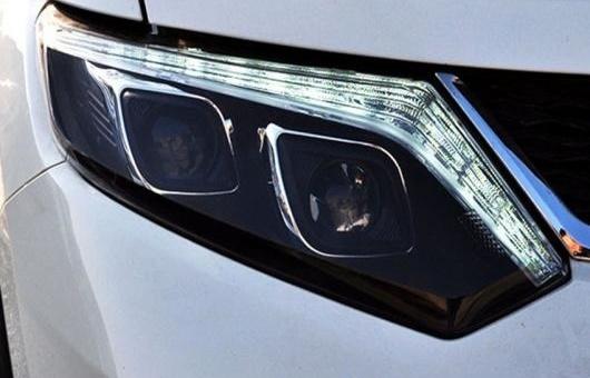 AL 適用: 日産 エクストレイル ヘッドライト 2008-2015 LED DRL レンズ ダブル ビーム H7 HID キセノン BI 4300K~8000K 35W・55W AL-HH-0547