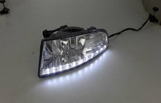 AL 適用: シュコダ オクタヴィア 10-13 LED DRL 高光度 ガイド フォグ ランプ デイタイムランニングライト A スタイル AL-HH-0552