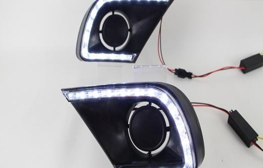 AL 適用: トヨタ イノーバ 2013-2015LED DRL LED フォグ ランプ デイタイムランニングライト 高光度 ガイド AL-HH-0556