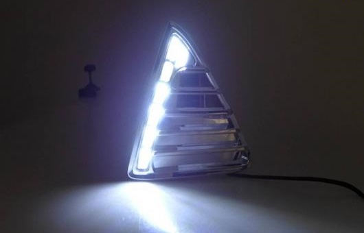 AL 適用: フォード/FORD フォーカス LED DRL 2012-14 高光度 ガイド フォグ ランプ デイタイムランニングライト B スタイル AL-HH-0563