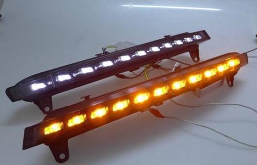 AL 適用: アウディ/AUDI Q7 2006-2009 LED DRL 高光度 ガイド フォグ ランプ デイタイムランニングライト AL-HH-0564
