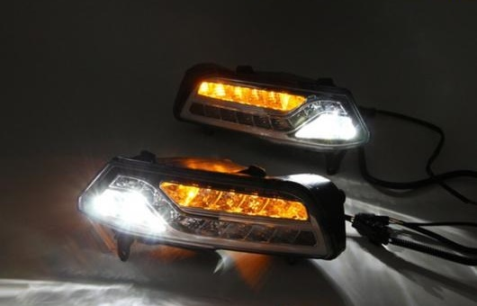 AL 適用: VW フォルクスワーゲン/VOLKSWAGEN ポロ 2015 LED DRL フォグ ランプ デイタイムランニングライト 高光度 ガイド ステアリング AL-HH-0568