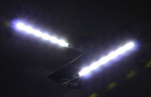 AL LED フォグランプ デイタイムランニングライト DRL 適用: ホンダ シティ 2014 2015 ホワイト AL-HH-0573