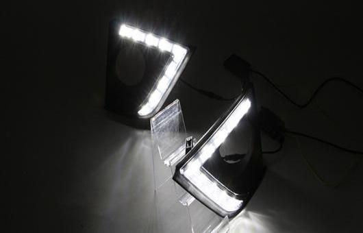 AL LED DRL 適用: トヨタ カローラ 2014 2015 デイタイムランニングライト フォグ ライト ランプ ホワイト AL-HH-0576