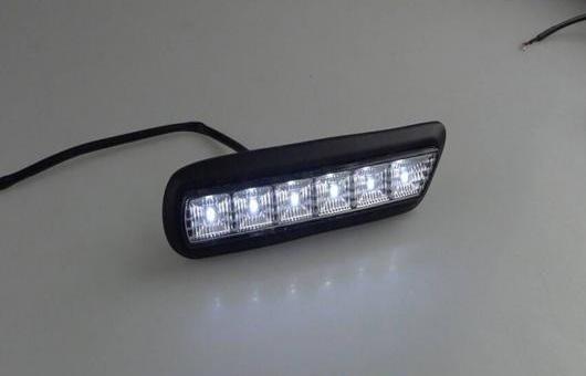 AL 適用: 三菱 ASX 2010-2012 LED DRL 高光度 ガイド フォグ ランプ デイタイムランニングライト AL-HH-0587