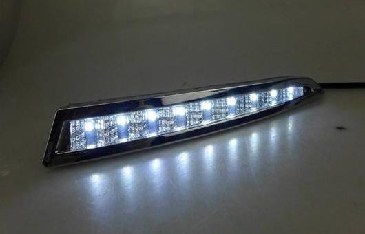 AL 適用: フォード/FORD クーガ 2013-2014 LED DRL フォグ ランプ デイタイムランニングライト 高光度 ガイド A スタイル AL-HH-0589