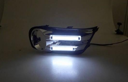 AL 適用: 日産 ティーダ 2011-2013 LED DRL 高光度 ガイド フォグ ランプ デイタイムランニングライト B AL-HH-0592
