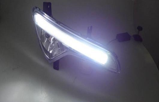 AL 適用: 起亜 スポーテージ 2010-13 LED DRL 高光度 ガイド フォグ ランプ デイタイムランニングライト B スタイル AL-HH-0593