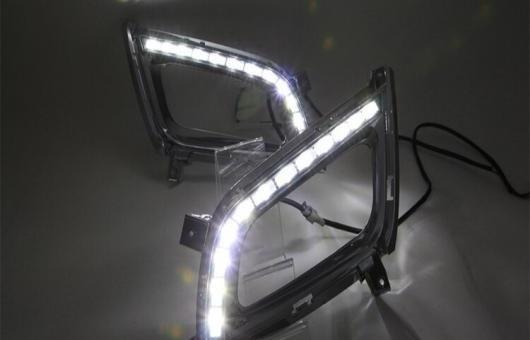 AL 適用: 起亜 K5 2013-14 LED DRL フォグ ランプ デイタイムランニングライト 高光度 ガイド 4 アイ スタイル AL-HH-0624