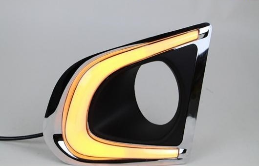 AL 適用: シボレー/CHEVROLET トラック 14-15 LED DRL フォグ ランプ デイタイムランニングライト 高光度 ガイド 双方向 AL-HH-0628