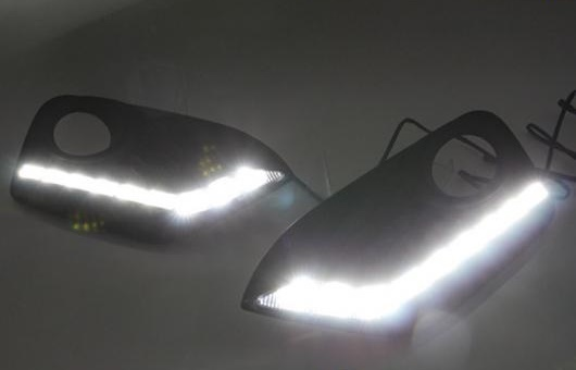AL 適用: ホンダ クロスツアー 2014-2015 LED DRL 高光度 ガイド デイタイムランニングライト AL-HH-0640