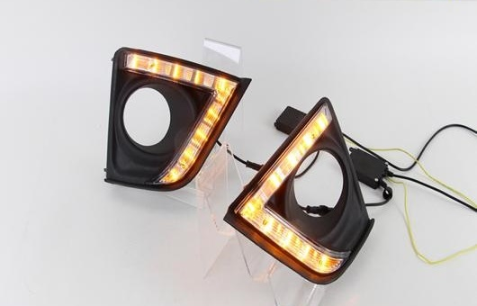 AL LED DRL 適用: トヨタ カローラ 2014-2015 フォグ ランプ 高光度 ガイド デイタイムランニングライト AL-HH-0645
